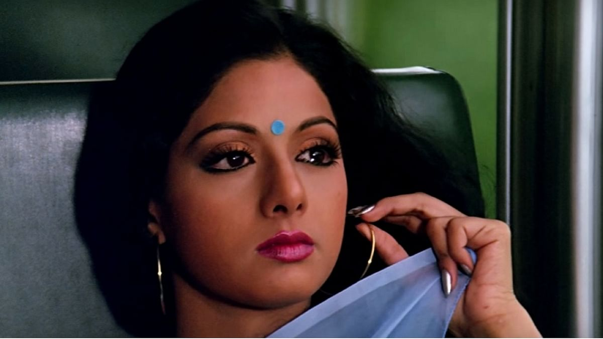 Sridevi in a still from <i>Chandni</i>.