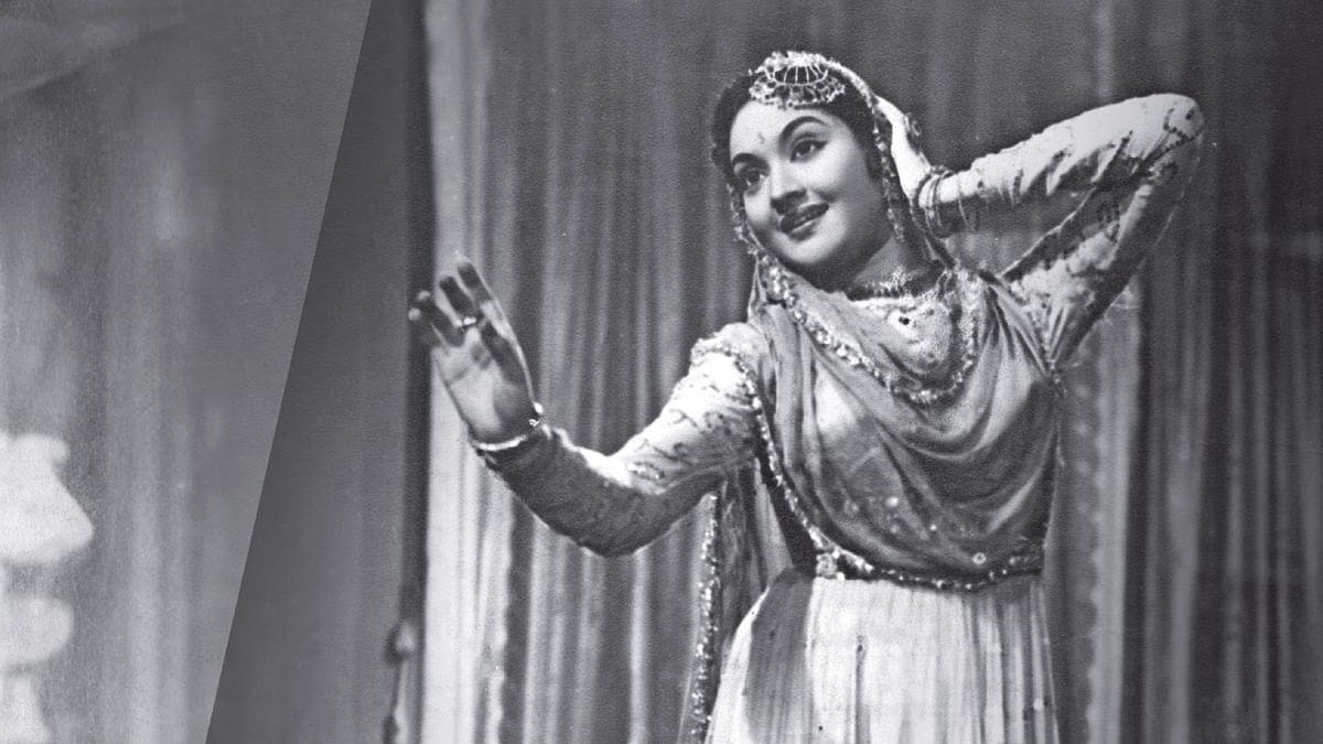 Vyjayanthimala in a still from <i>Devdas</i>.