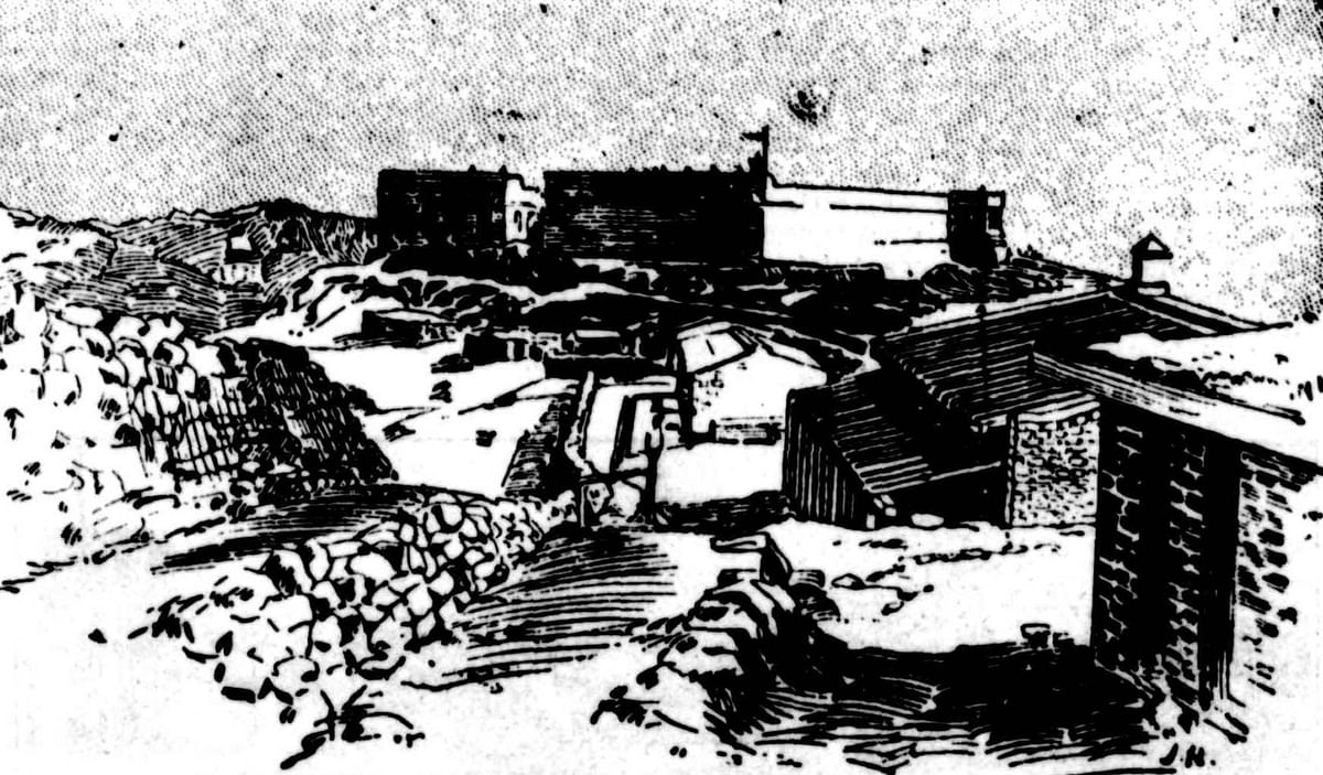 An artist's impression of Fort Gulistan on the North-West frontier published in 1897.