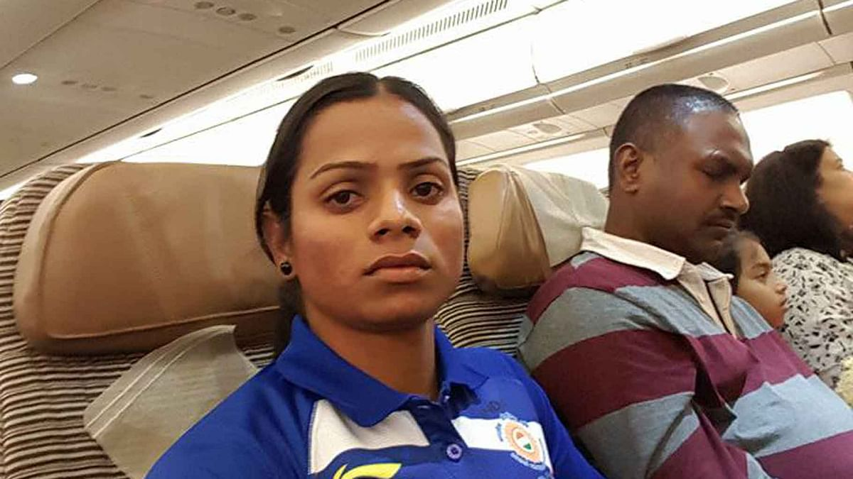 """National champion in the 100m event, Dutee sent Quint a voice note of her experience of travelling to Rio. (Photo Courtesy: <a href=""""https://www.facebook.com/photo.php?fbid=224358464628171&amp;set=a.111735559223796.1073741828.100011620567117&amp;type=3&amp;theater"""">Facebook/Dutee Chand</a>)"""