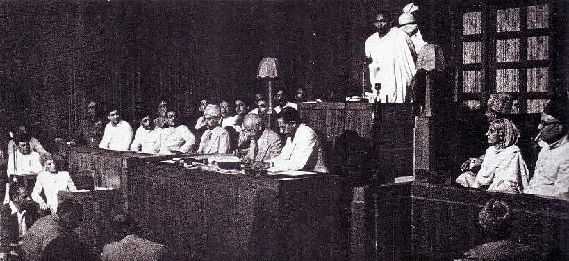 Jogendranath Mandal in the Pakistan assembly. (Photo Courtesy: Wikimedia Commons)
