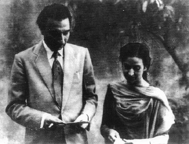 Sahir Ludhianvi and Amrita Pritam