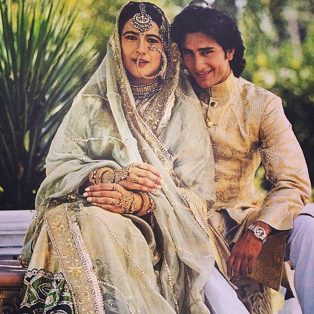 "Saif Ali Khan with first wife Amrita Singh. (Photo courtesy: <a href=""https://twitter.com/search?f=images&amp;vertical=default&amp;q=amrita%20singh%20saif%20ali%20khan&amp;src=typd"">Twitter/ @ChamkeeliTrippy</a>)"