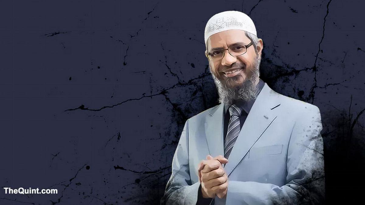 Controversial televangelist and Islamic preacher Zakir Naik. <i>(Photo: <b>The Quint</b>)</i>