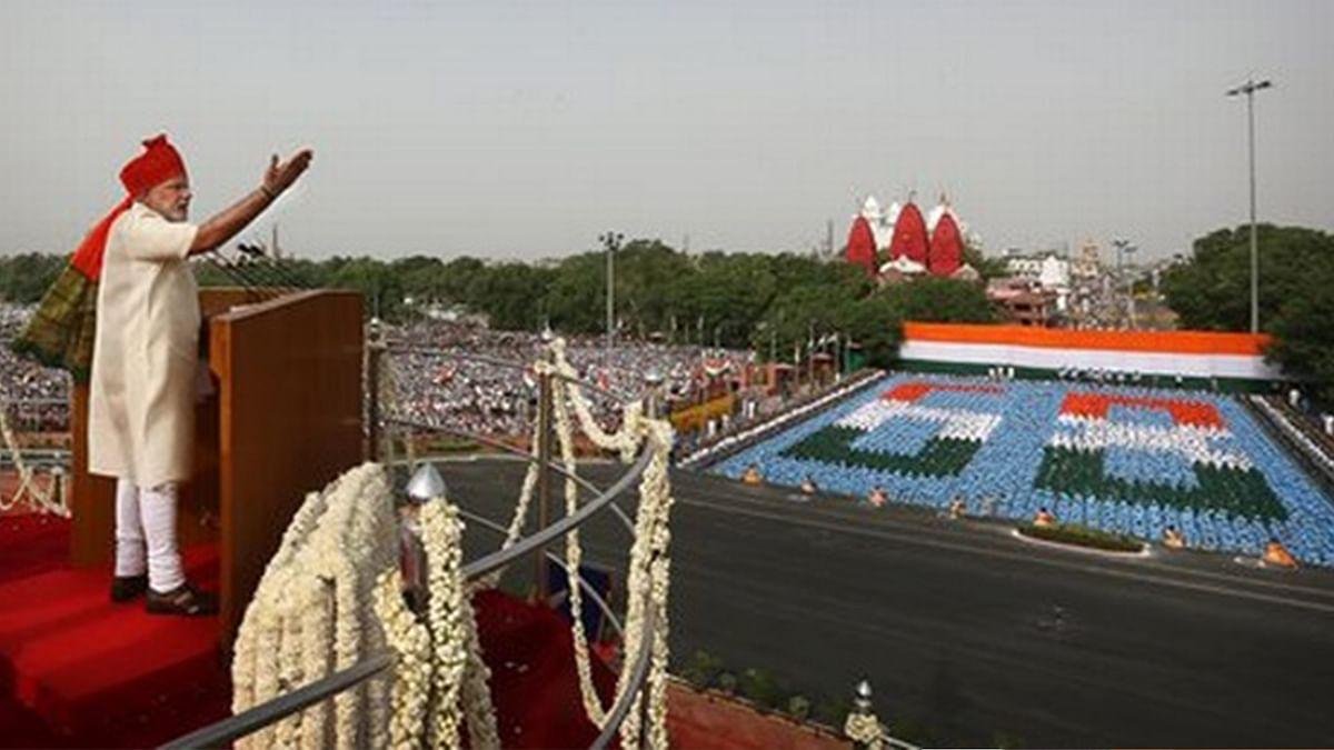 Prime Minister Narendra Modi on Independence Day. (Photo Courtesy: PTI)
