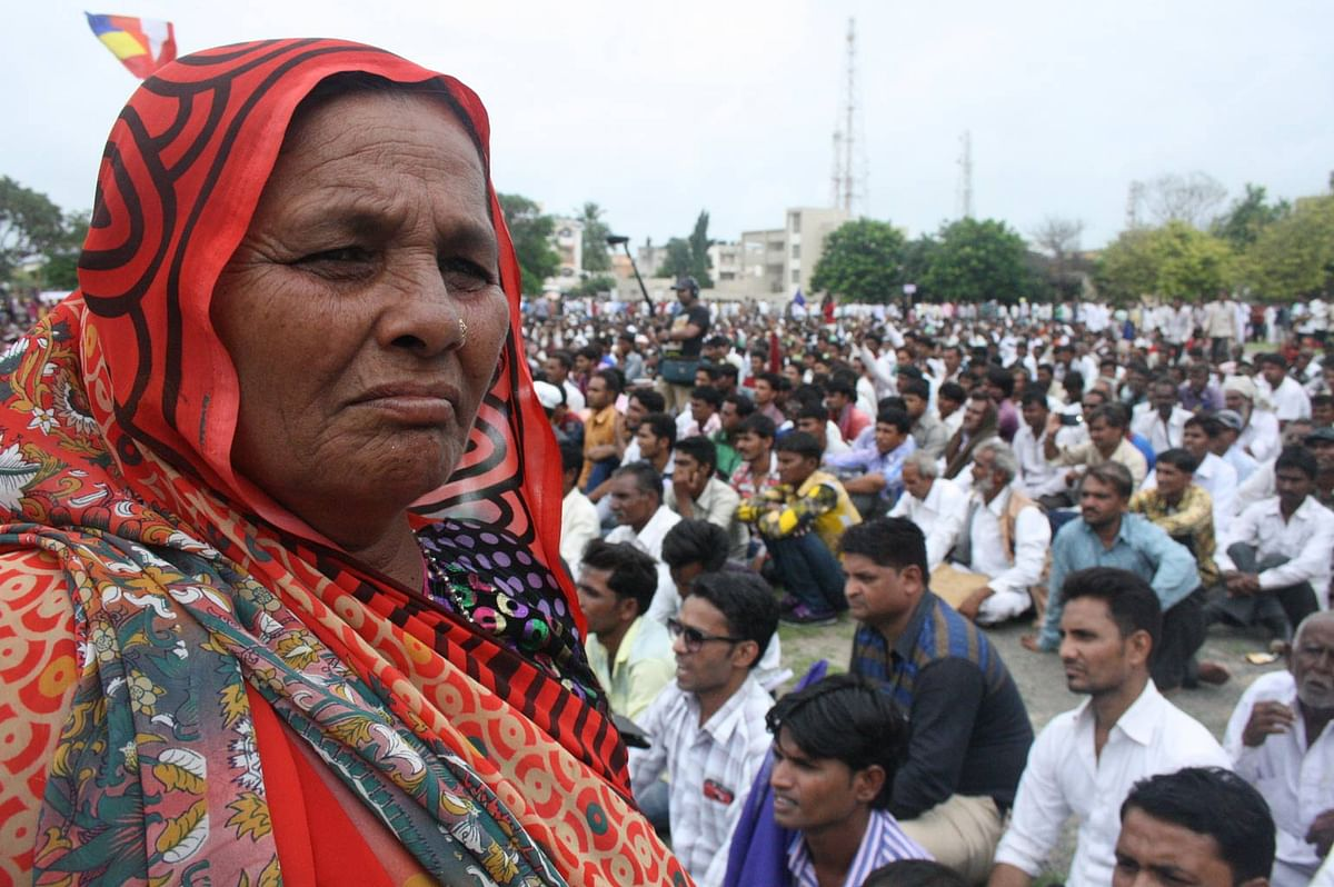 A sizeable proportion of the Dalit rising at Una was women. (Photo Courtesy: Revati Laul)