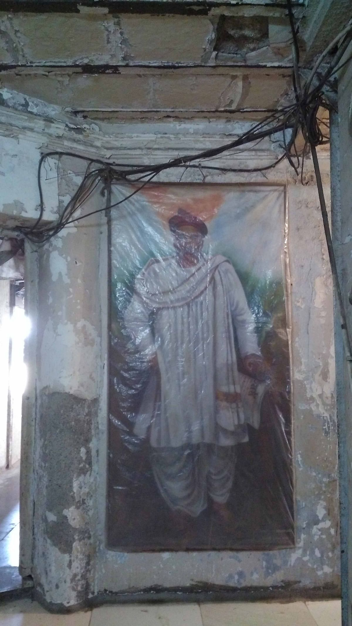 An old portrait of Lokmanya Tilak at Sardar Gruh in Mumbai.