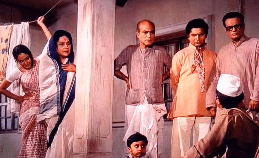 A still from <i>Bawarchi</i> (1972).