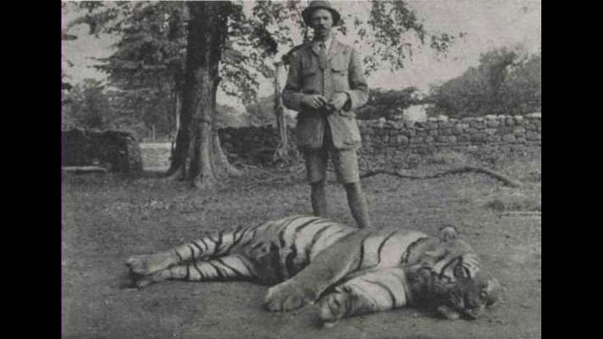 Jim Corbett with a slain tiger called 'Bachelor of Powalgarh.' The Jim Corbett National Park was established on 8 August 1936. Here's a closer look at the man it is named after.