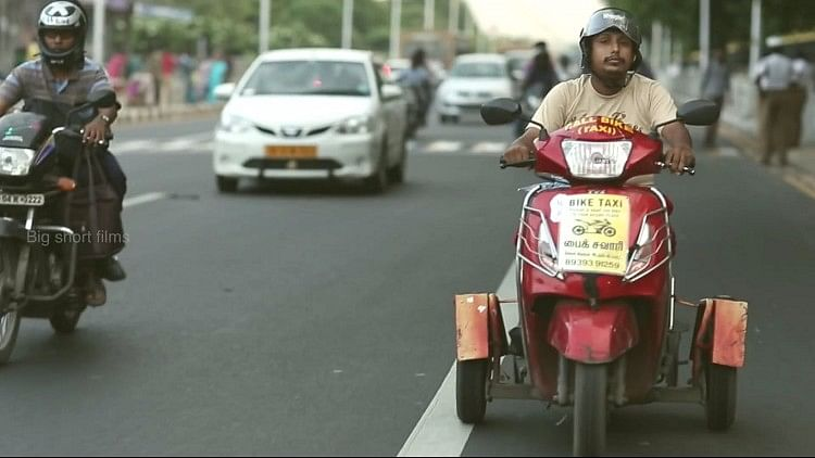 Maa Ula, a Chennai bike-taxi service run by the differently-abled (Photo: Youtube screenshot)