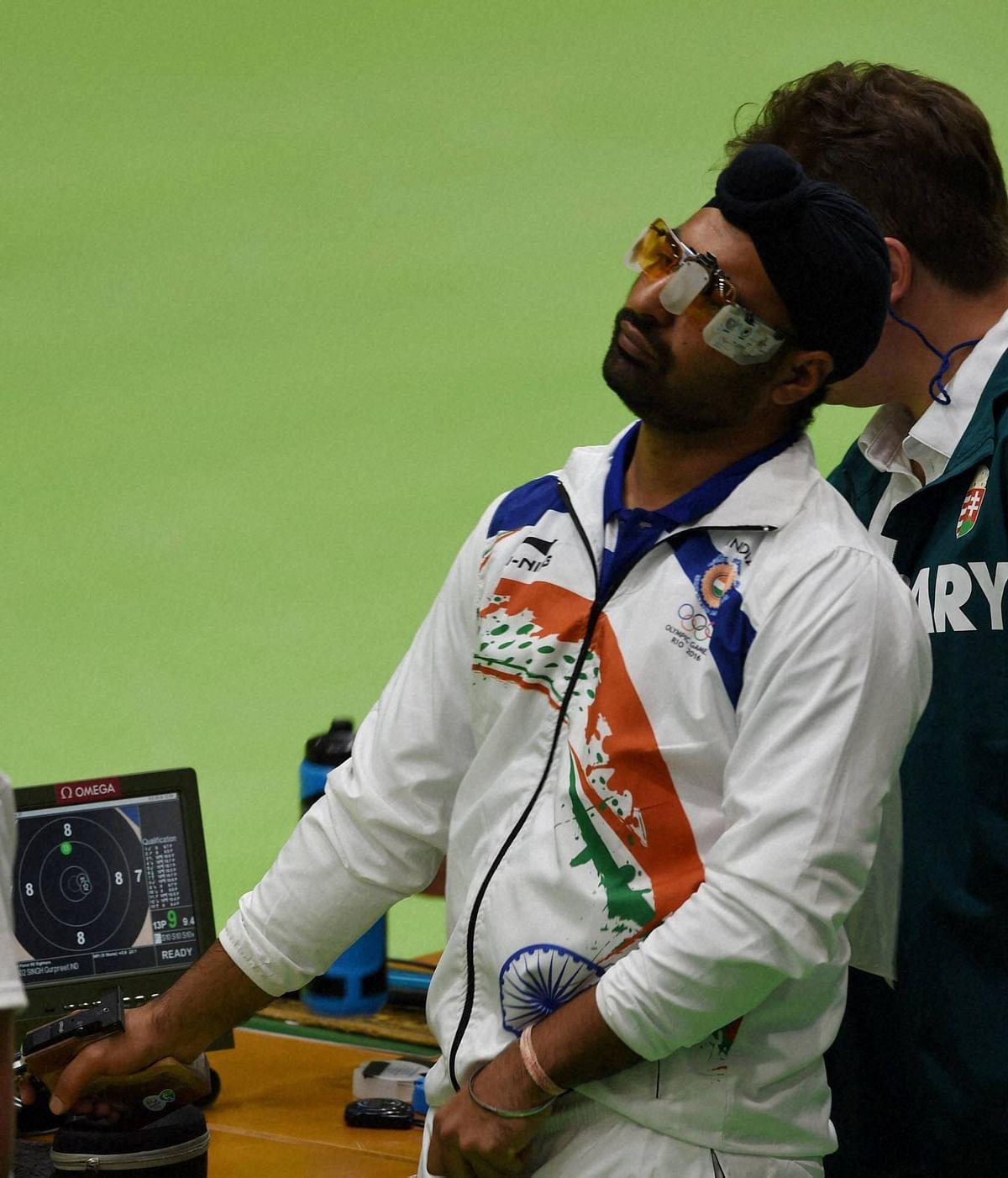 Gurpreet Singh in action in Rio. (Photo: PTI)