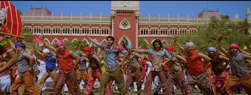 A still from the movie Gunday outside Calcutta High Court