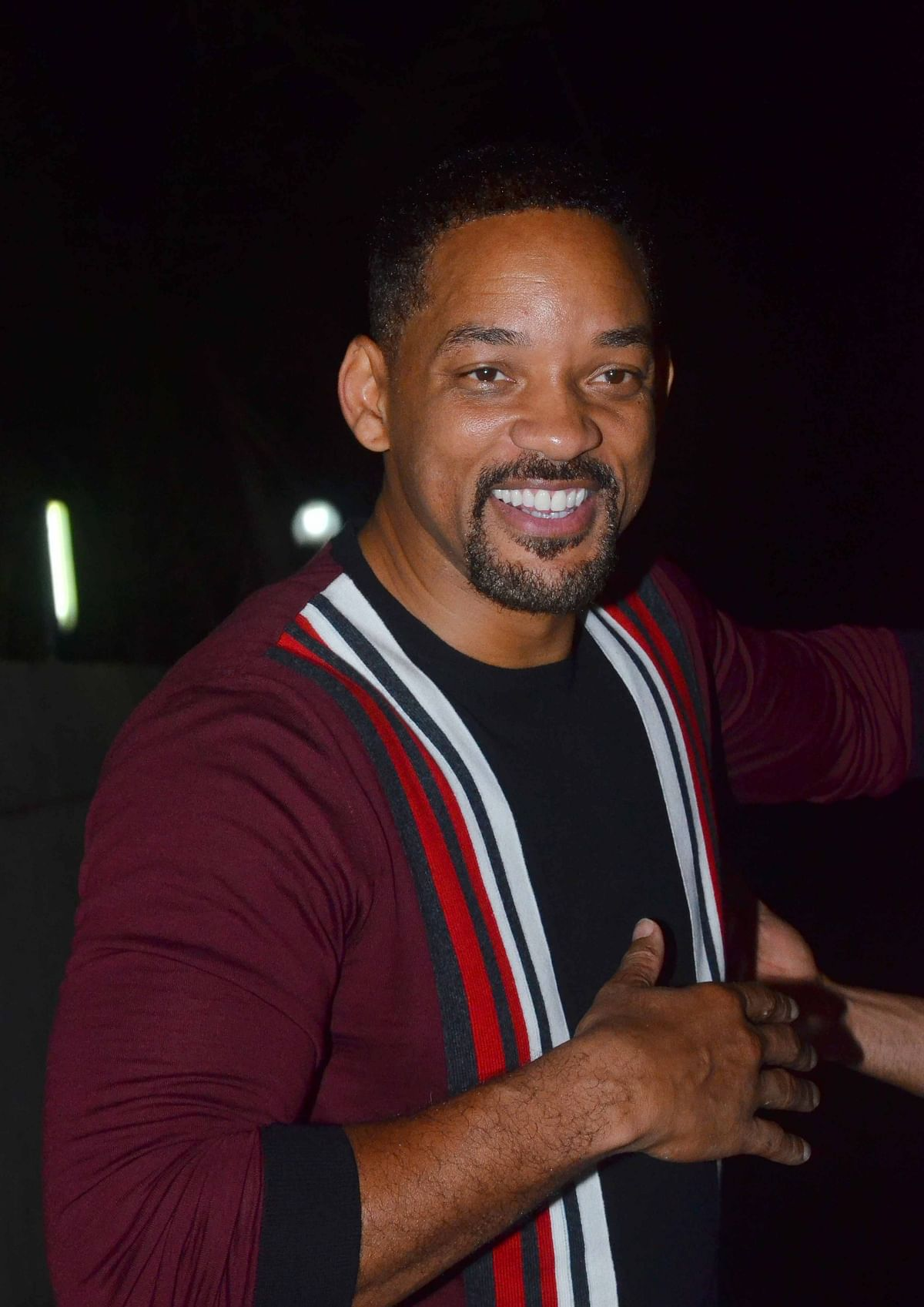Will Smith smiles for the camera. (Photo: Yogen Shah)