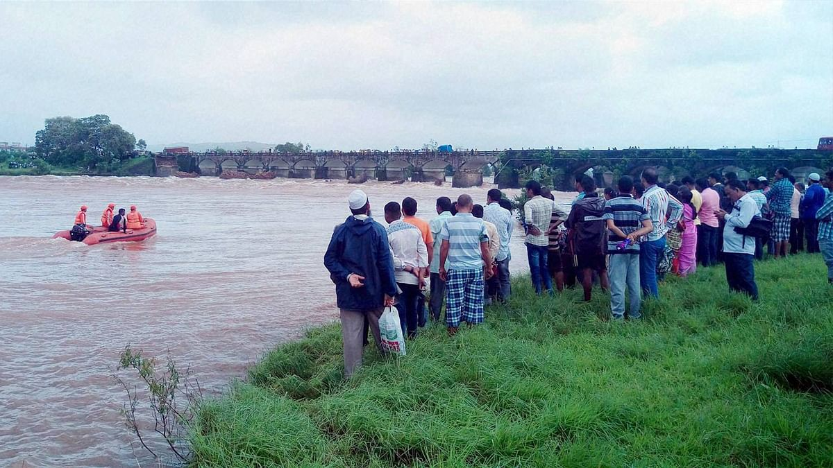 Mahad Bridge Collapse: Toll Climbs to 24 as Two More Bodies Found