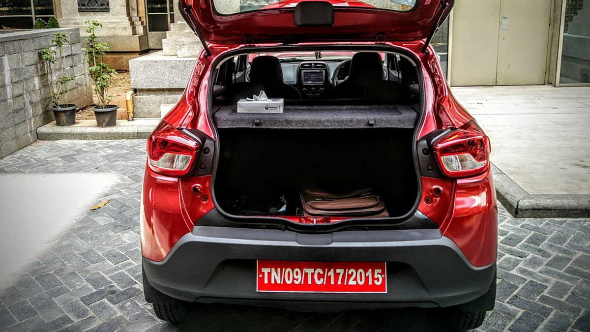 Lot of boot space on the Renault Kwid 1.0-litre. (Photo Courtesy: Motorscribes)