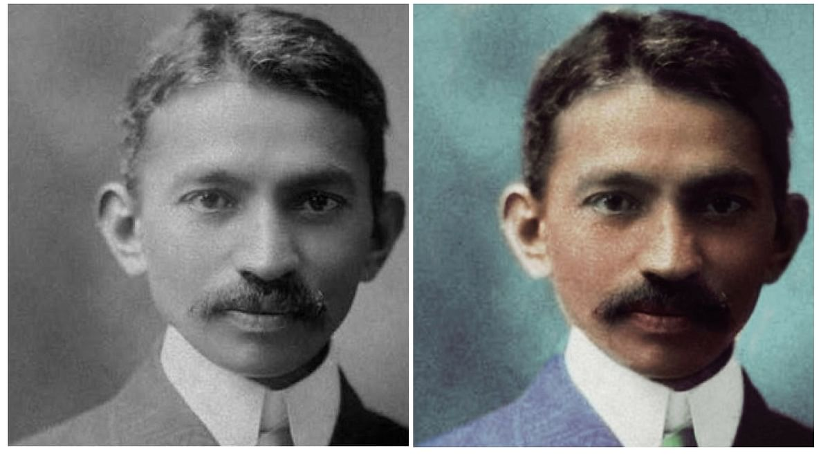 A younger Mahatma Gandhi. (Photo: Dimple Negi)