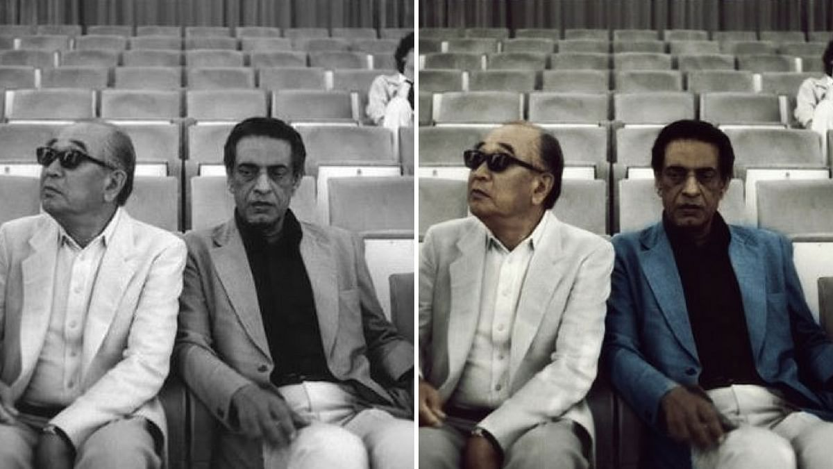 Satyajit Ray chilling with Japanese filmmaker Akira Kurosawa. (Photo: Dimple Negi)