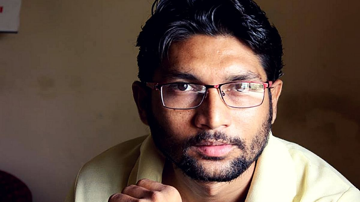 """The new face of the Dalit movement in Gujarat. (Photo Courtesy: Facebook/<a href=""""http://v/"""">Jignesh Mevani</a>)"""