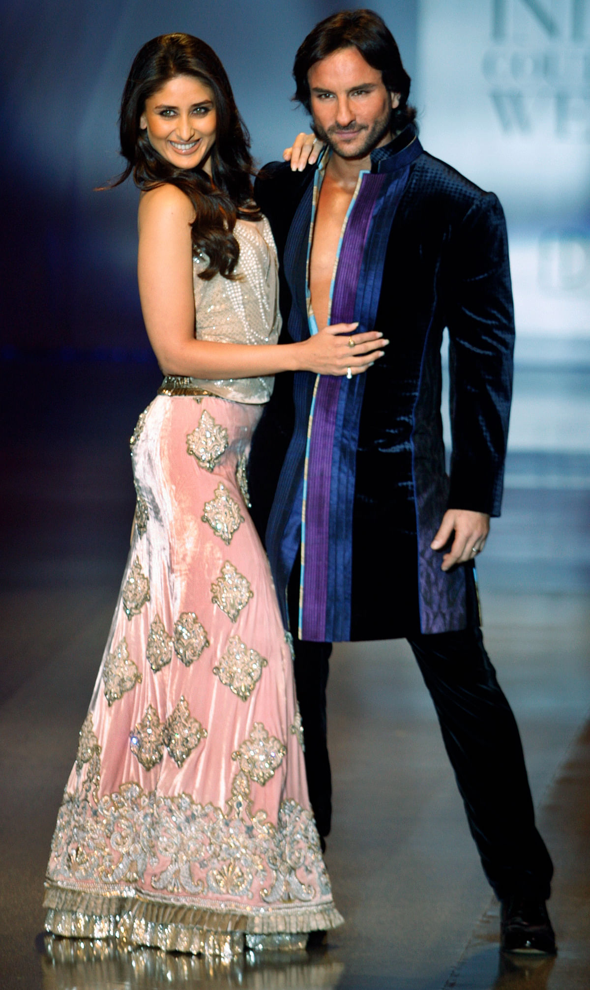 Saif Ali Khan with Kareena Kapoor, with whom he is expecting their first child. (Photo: Reuters)