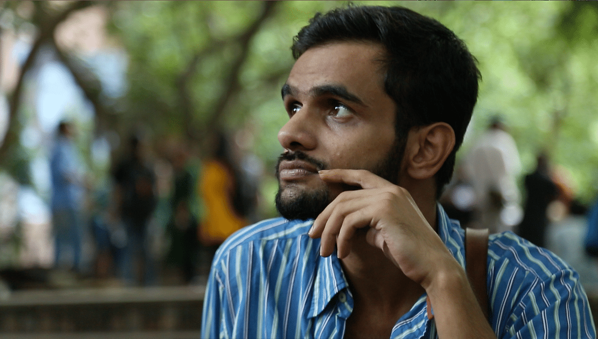 Umar Khalid and Anirban Bhattacharya for the first time released pamphlets, urging people to come out and vote. (Photo: <b>The Quint</b>)