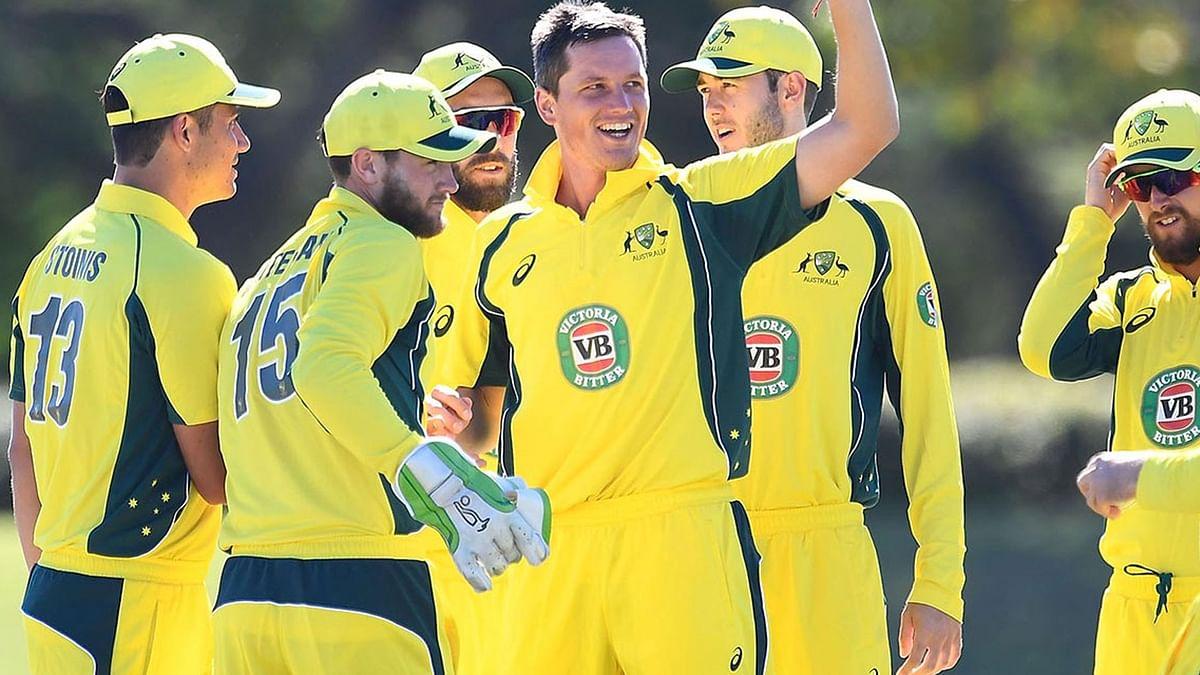 "Australian pacer Chris Tremain during the Quadrangular series. (Photo: Twitter/<a href=""https://twitter.com/CricketAus"">@Cricket Australia</a>)"