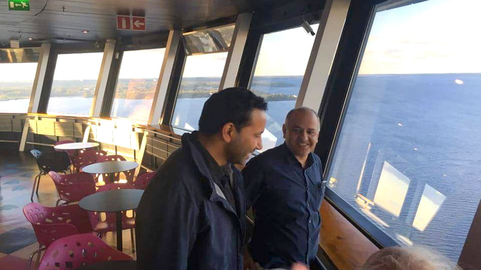 "AAP Deputy Minister is in Finland for an official trip. (Photo Courtesy: Twitter/<a href=""https://twitter.com/VyasVinodk"">@<b>VyasVinodk</b></a>)"