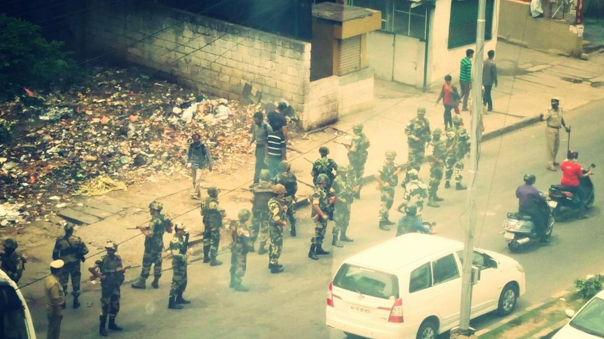 Security arrangements being tightened ahead of the dry-day in Bengaluru.