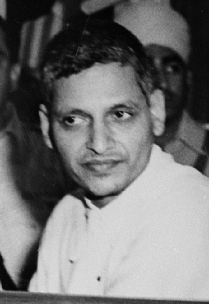 The criminal defamation case against Rahul Gandhi is not the first time that the RSS has tried to disassociate itself from Nathuram Godse. Here, Godse is seen at his trial.