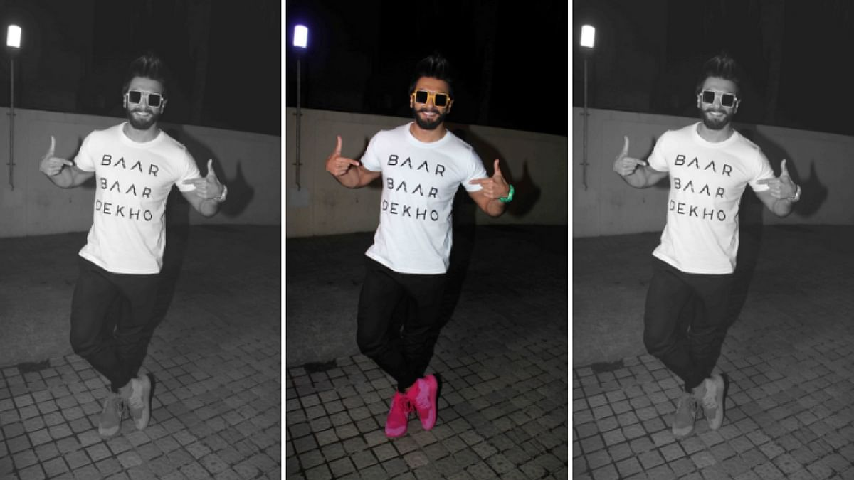 """Ranveer Singh would be performing on a medley of his hit songs. (Photo Courtesy: <a href=""""https://twitter.com/raghuvendras"""">Twitter/@raghuvendras</a>)"""