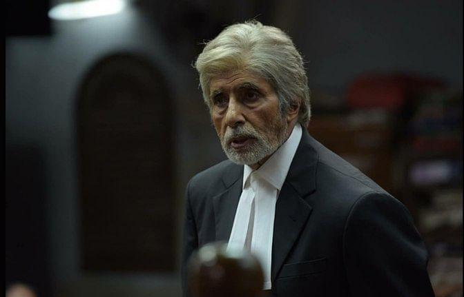 """Amitabh Bachchan playing Deepak Sehgall, a maverick defense lawyer. (Photo Courtesy: <a href=""""https://www.youtube.com/watch?v=AL2TShb6fFs"""">Screengrab of trailer</a>)"""