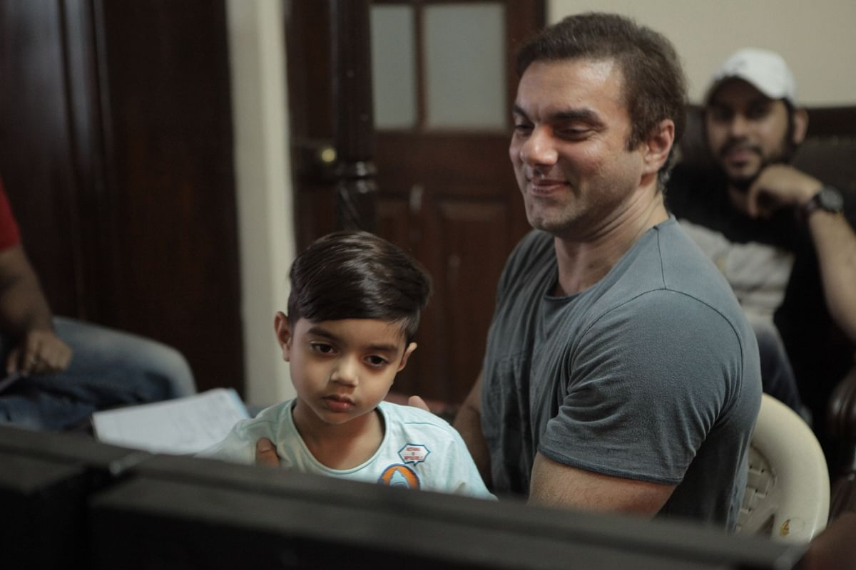 Sohail Khan is loving the director's chair as he watches his actors perform on the monitor. (Photo Courtesy: Sohail Khan Productions)