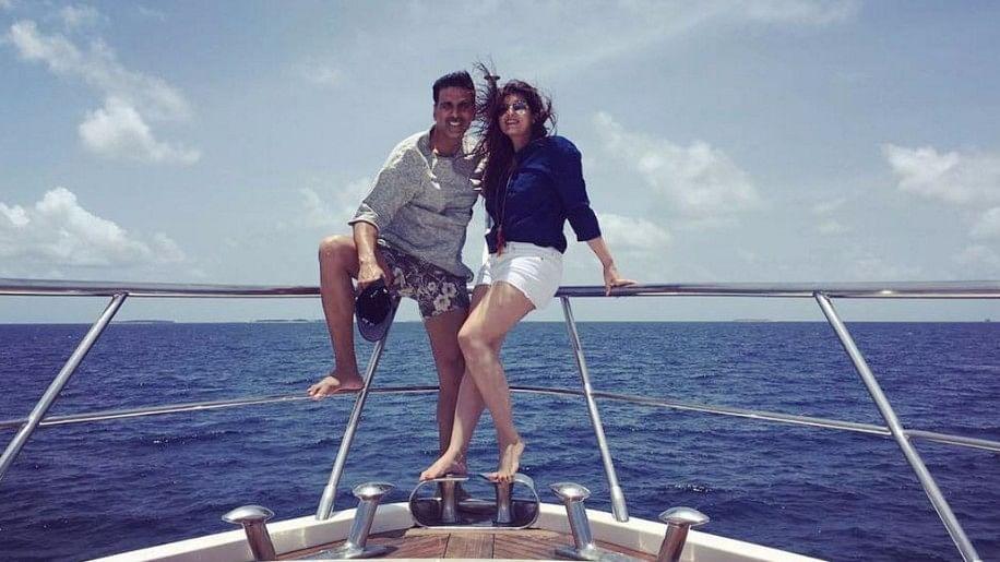 "Twinkle Khanna and Akshay Kumar enjoy on their holiday. (Photo: <a href=""https://www.instagram.com/twinklerkhanna/?hl=en"">Instagram/TwinkleKhanna</a>)"
