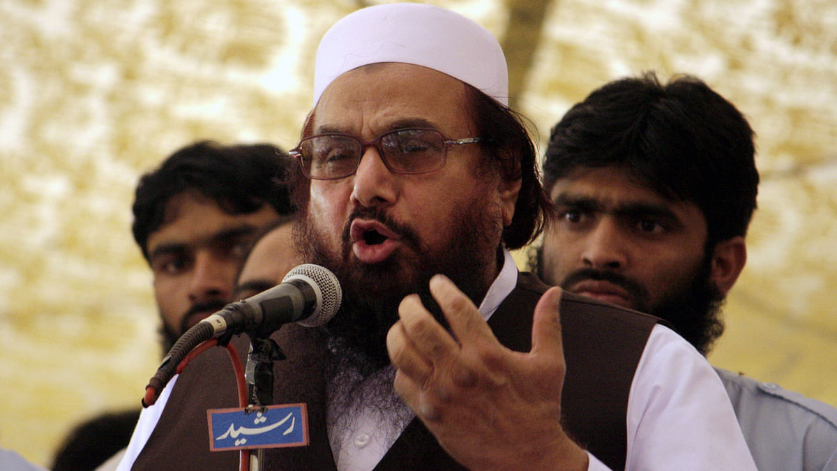 File photo of JuD chief Hafiz Saeed