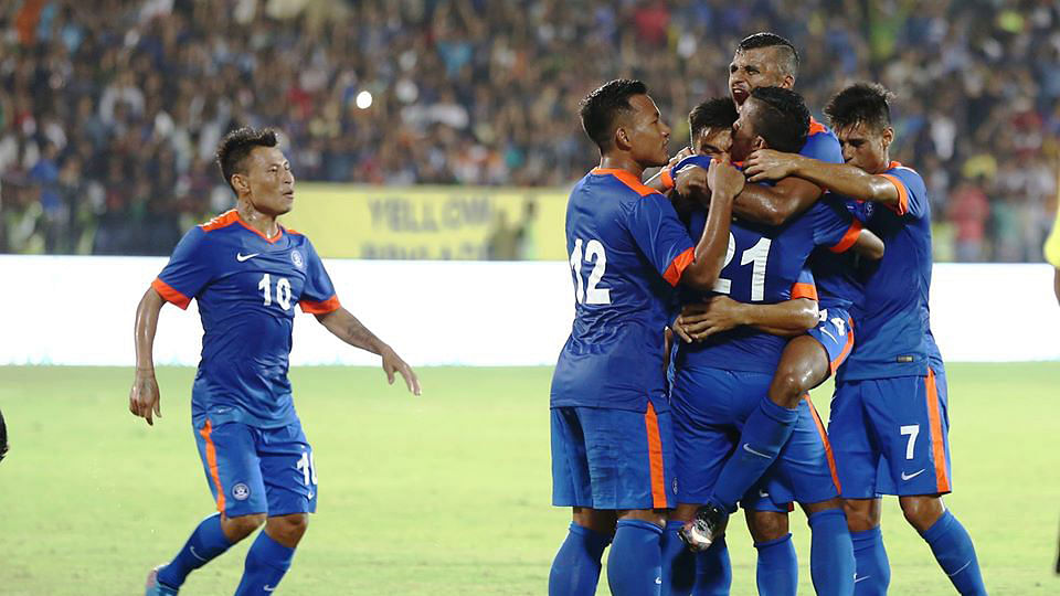 India beat Puerto Rico 4-1 in a friendly on Saturday night. (Photo: AIFF)