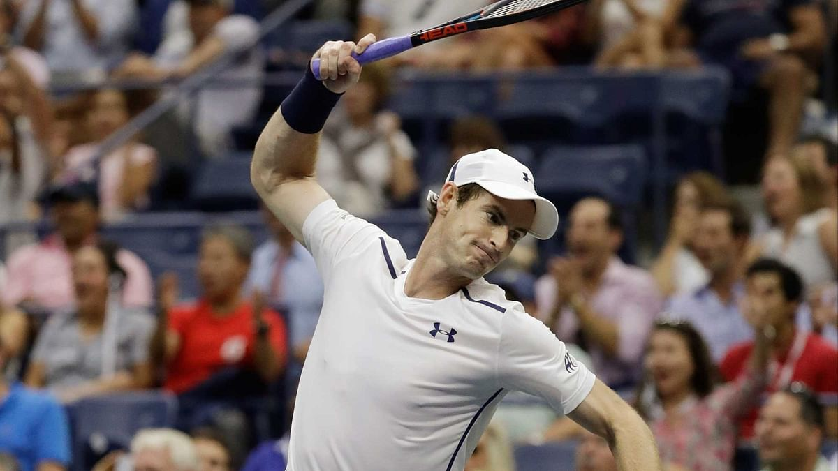 Andy Murray, of the United Kingdom, reacts during the fifth set of his match with Kei Nishikori. (Photo: AP)