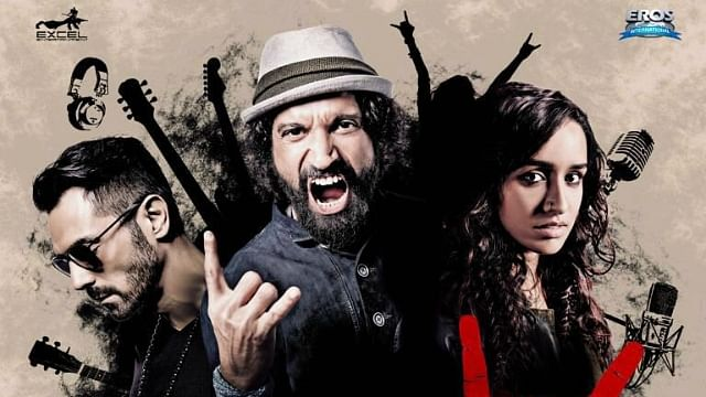 """The poster of <i>Rock On 2</i>. (Photo Courtesy: <a href=""""https://twitter.com/FarOutAkhtar"""">Twitter/FaroutAkhtar</a>)"""