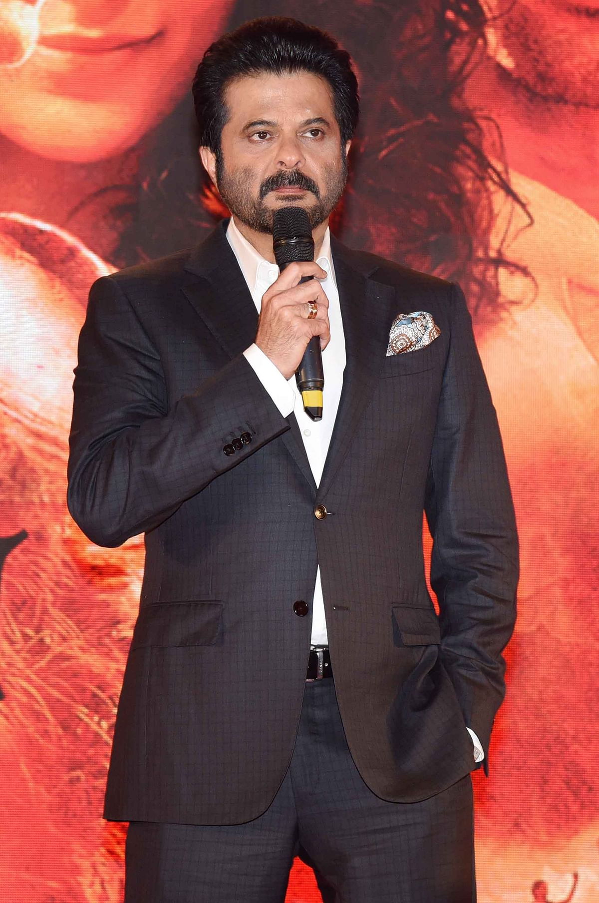 Anil Kapoor gets  emotional while introducing his son. (Photo: Yogen Shah)