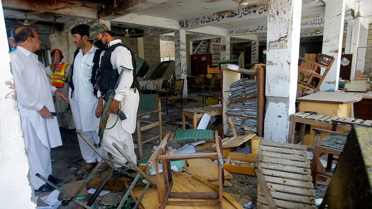 The blasts come hours after four militants attacked Christian Colony in Peshawar. (Photo: AP)