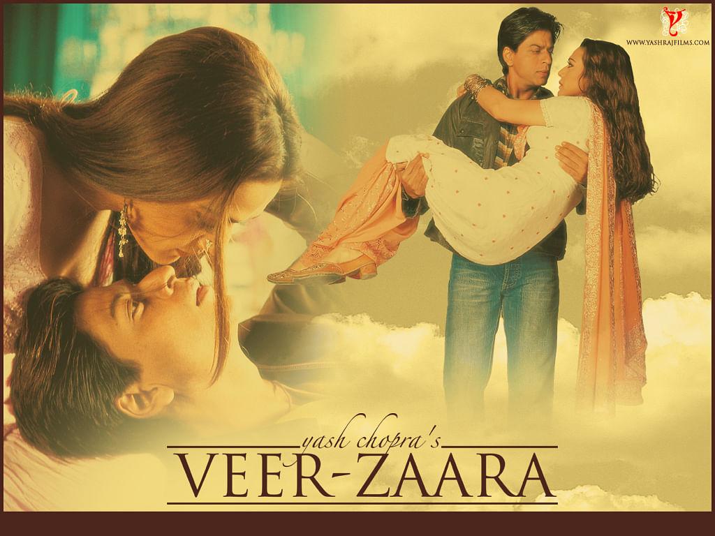 A poster of <i>Veer-Zaara.</i>
