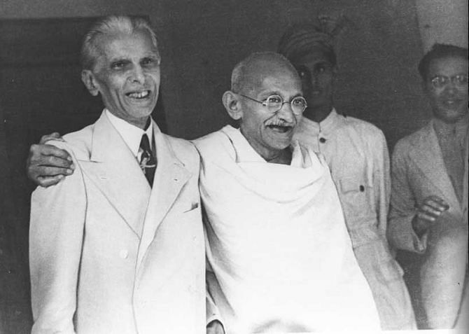 Mohammad Ali Jinnah with MK Gandhi. (Photo: Wikimedia Commons)
