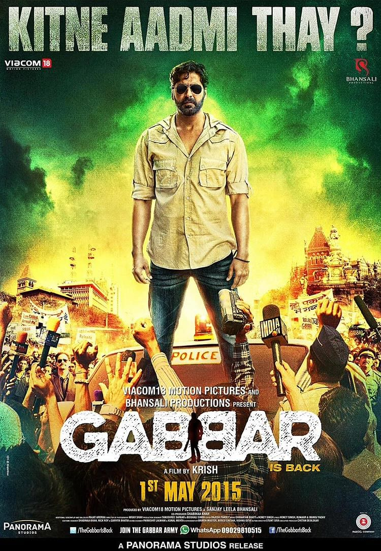 Akshay Kumar in the poster of <i>Gabbar</i>.&nbsp;
