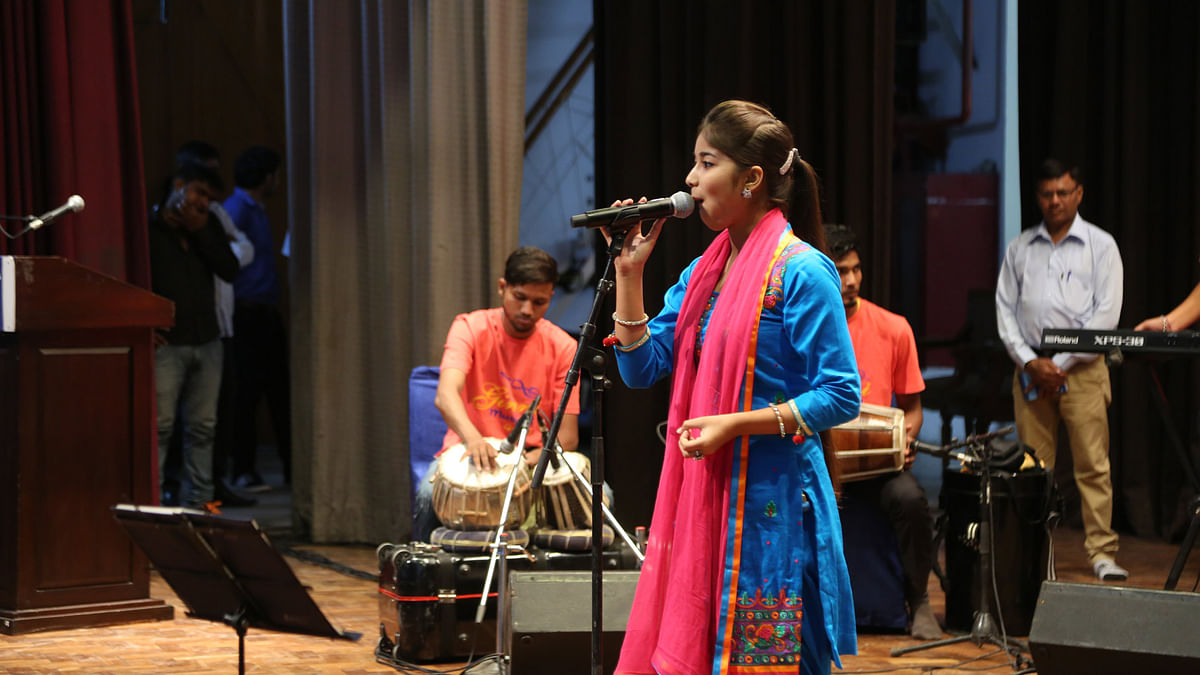 Ginni Mahi at the SAHMAT concert. (Photo: Sanjoy Deb/ <b>The Quint</b>)