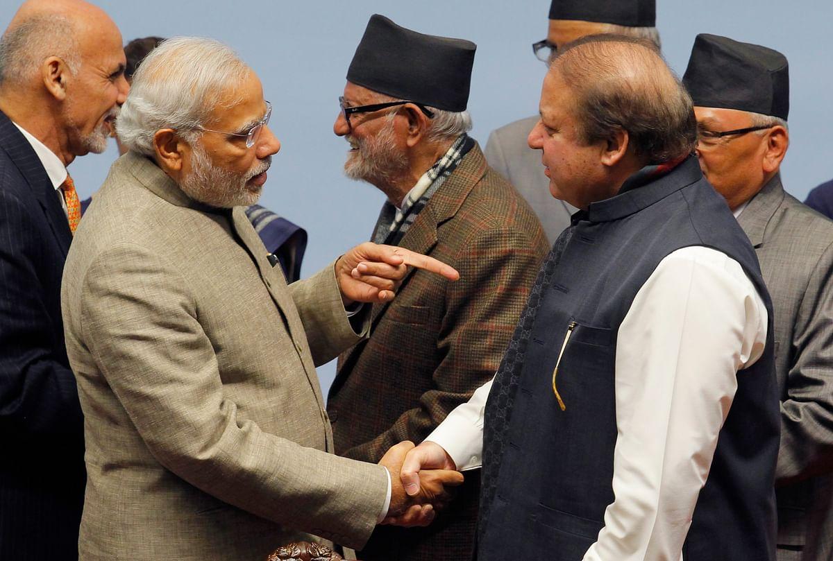 PM Modi tells Pakistan PM Nawaz Sharif on Pakistan's National Day saying a terror-free atmosphere paramount to resolve issues. (Photo: Reuters)