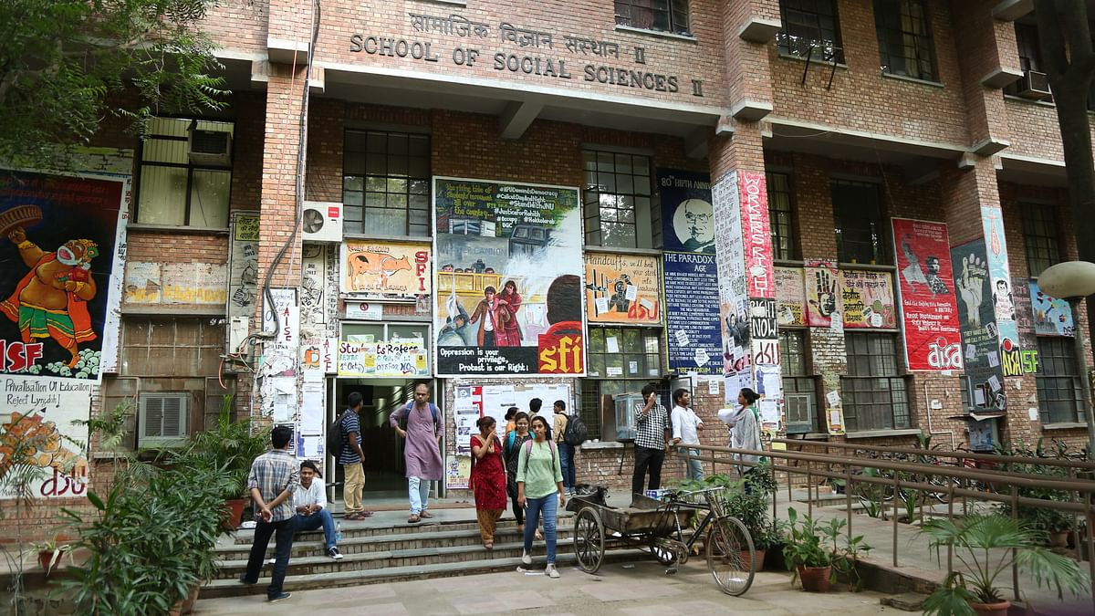 The politics on campus has naturally been coloured by the events of 9 February 2016. (Photo: <b>The Quint</b>)