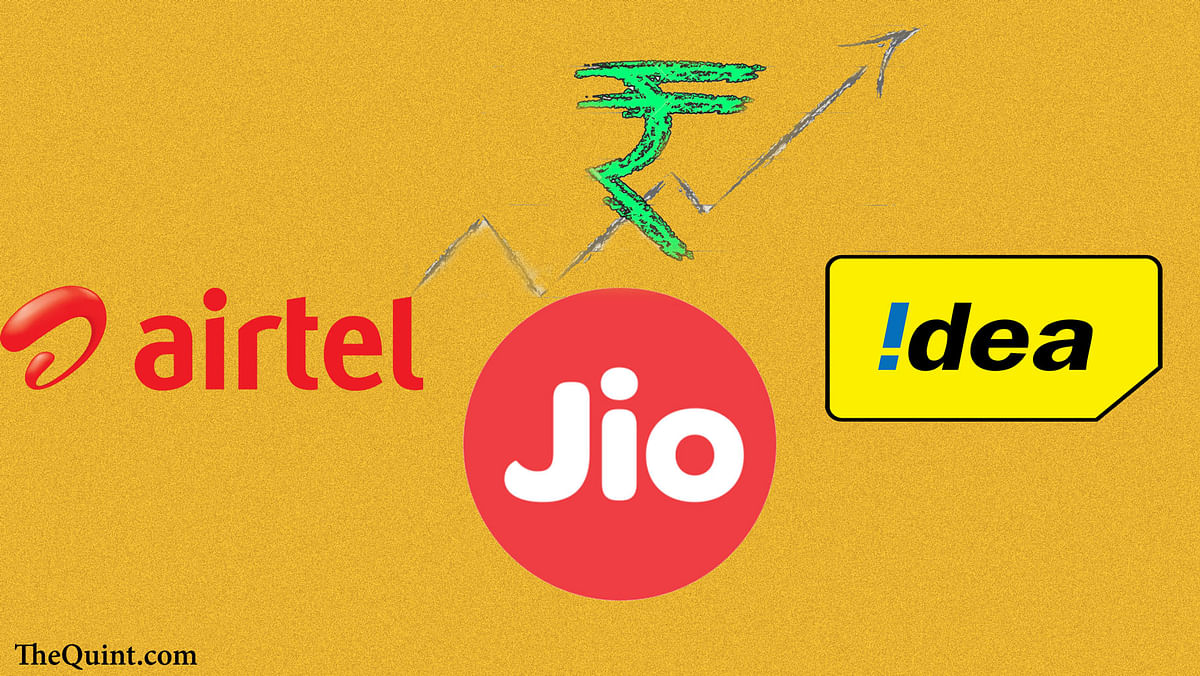 Bharti Airtel lost approximately Rs 9,800 crore and Idea lost roughly Rs 2,450 crore of market cap. (Photo: The Quint)