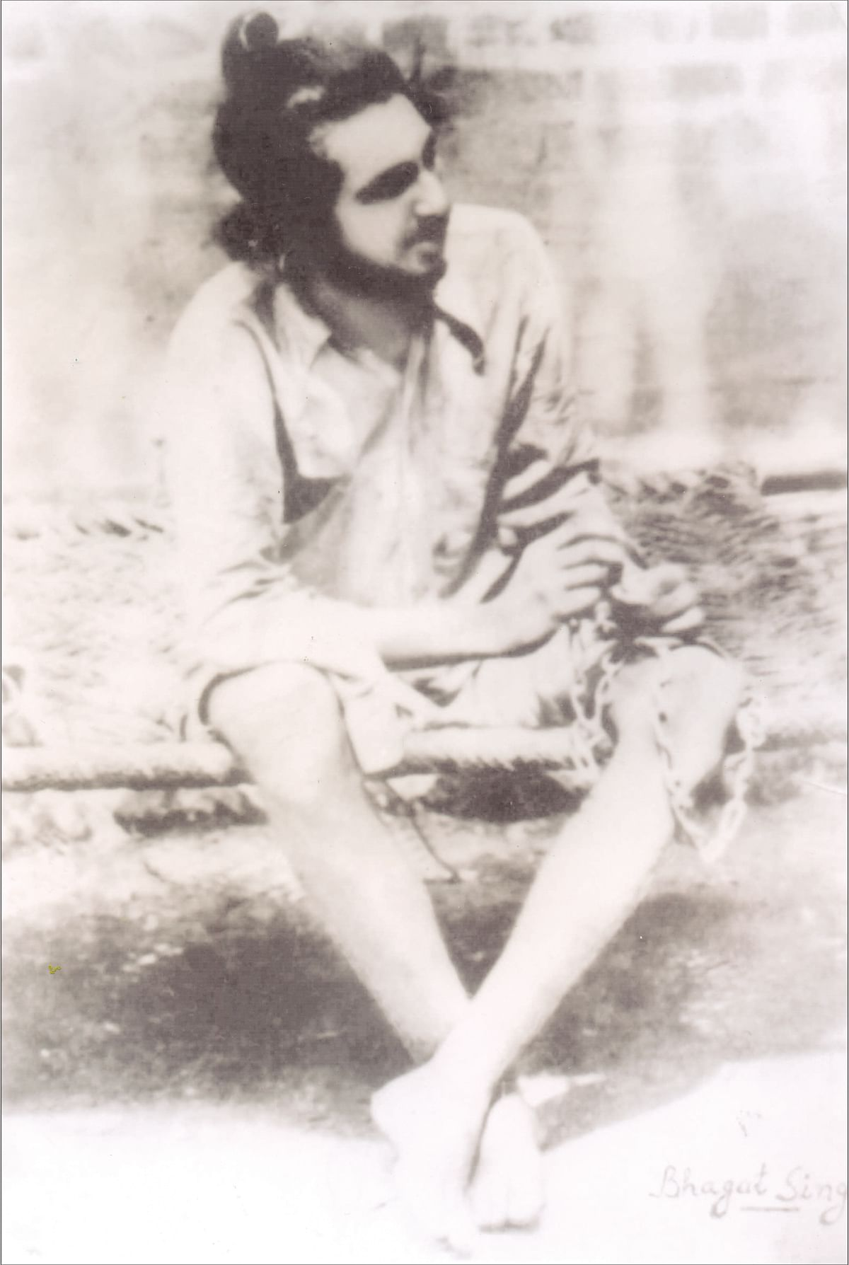 """One of the rare surviving images of Bhagat Singh. (Photo Courtesy: <a href=""""http://www.shahidbhagatsingh.org/index.asp?linkid=2"""">Shahidbhagatsingh.com</a>)"""