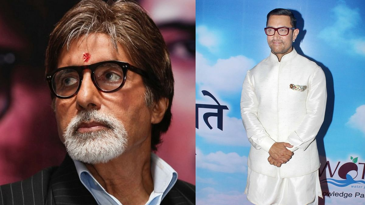 Amitabh Bachchan and Aamir Khan. (Photo: Reuters/ Yogen Shah)