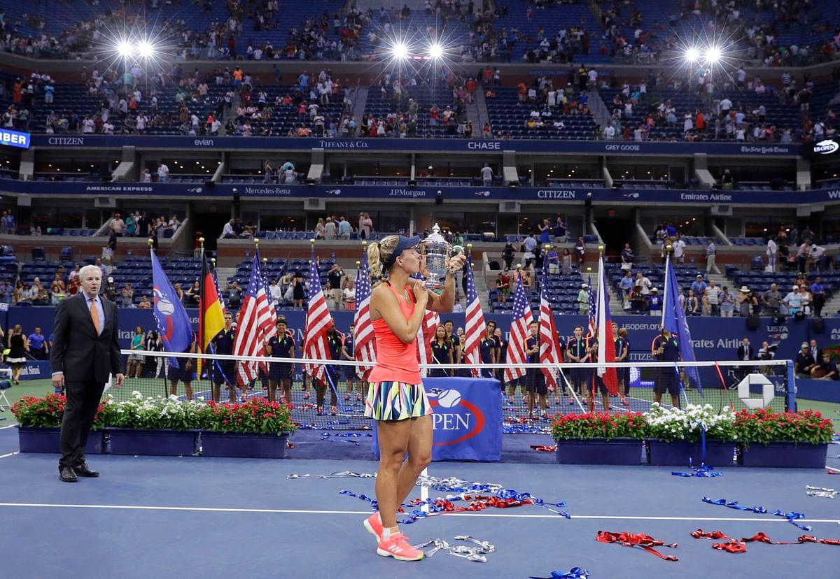 Kerber celebrates after winning the US Open final. (Photo: AP)