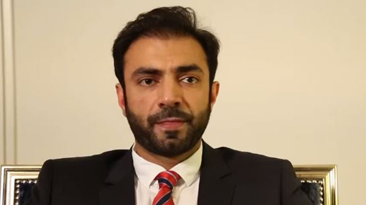 """Brahumdagh Bugti, Leader of the Baloch Republican Party. (Photo Courtesy: YouTube Screenshot/<a href=""""https://www.youtube.com/watch?v=S1tLY8LV7RQ"""">BRP Germany</a>)"""