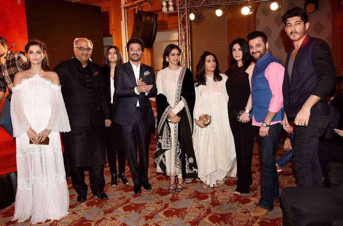 The Kapoor <i>khandan </i>at the <i>Mirzya </i>event. (Photo: Yogen Shah)